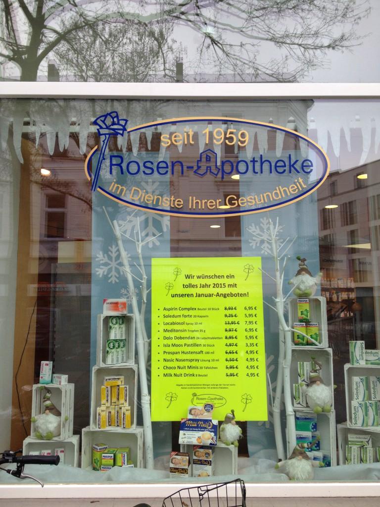 Winter Schaufenster In Der Apotheke Lust Auf Hingucker